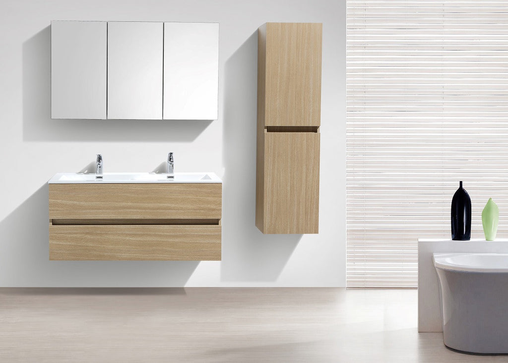 le monde du bain armoire de toilette bloc miroir siena largeur 120 cm ch ne clair. Black Bedroom Furniture Sets. Home Design Ideas