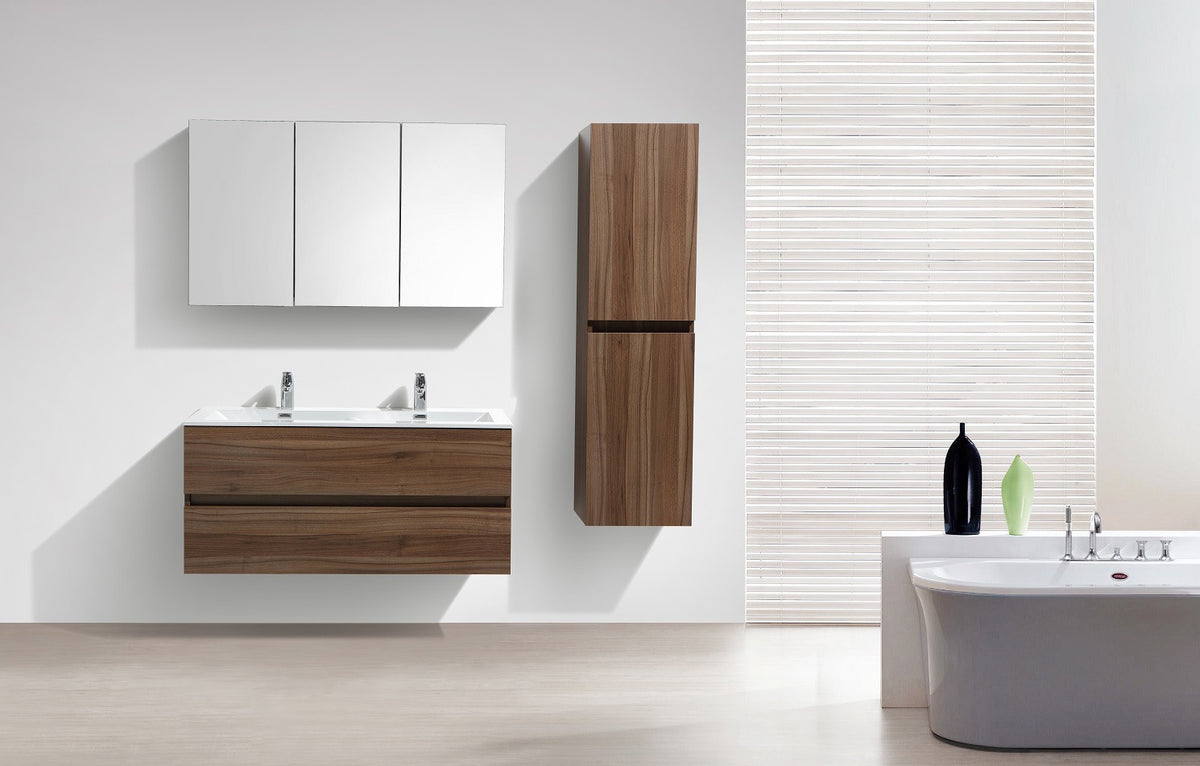 grande armoire de rangement siena hauteur 150 cm noyer le monde du bain. Black Bedroom Furniture Sets. Home Design Ideas