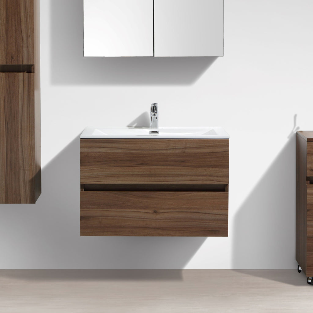 Le monde du bain meuble salle de bain design simple for Meuble salle de bain simple vasque bois