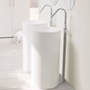 Lavabo colonne design VISTABELLA Ø45 cm en solid surface