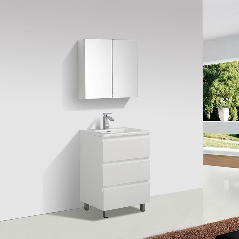Meuble Salle De Bain Design Simple Vasque Verona Largeur 60 Cm