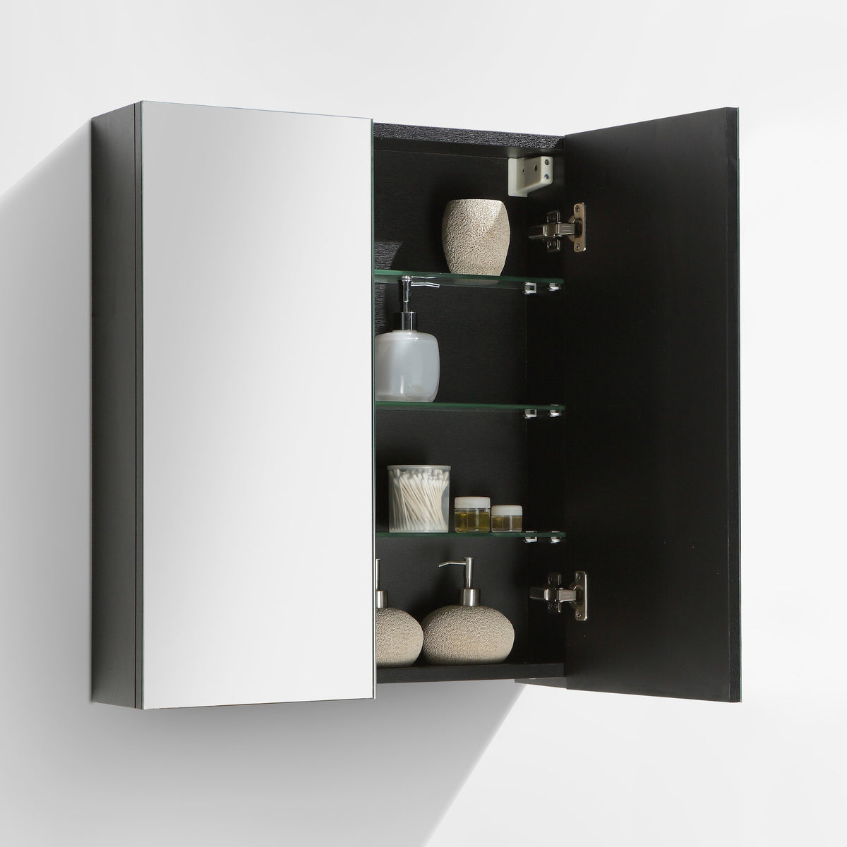 armoire de toilette bloc miroir siena largeur 60 cm ch ne noir le monde du bain. Black Bedroom Furniture Sets. Home Design Ideas