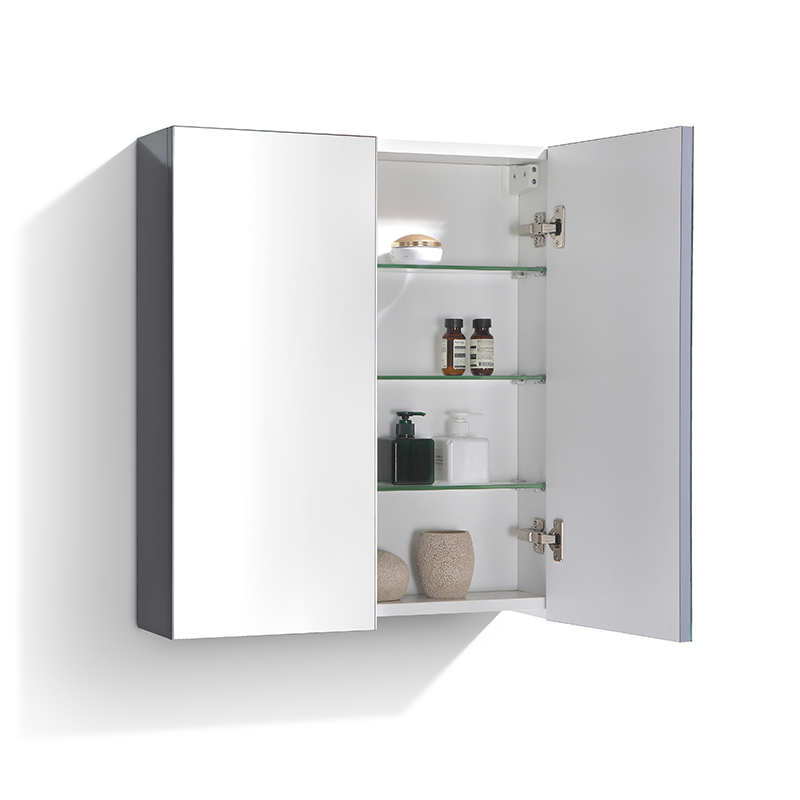 armoire de toilette bloc miroir siena largeur 60 cm gris. Black Bedroom Furniture Sets. Home Design Ideas