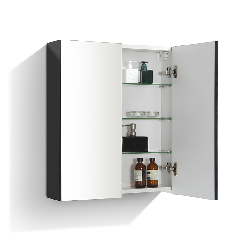 armoire de toilette bloc miroir siena largeur 60 cm noir. Black Bedroom Furniture Sets. Home Design Ideas