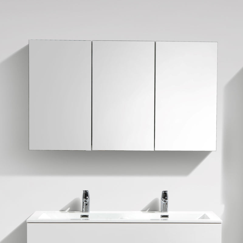 armoire de toilette bloc miroir siena largeur 120 cm. Black Bedroom Furniture Sets. Home Design Ideas