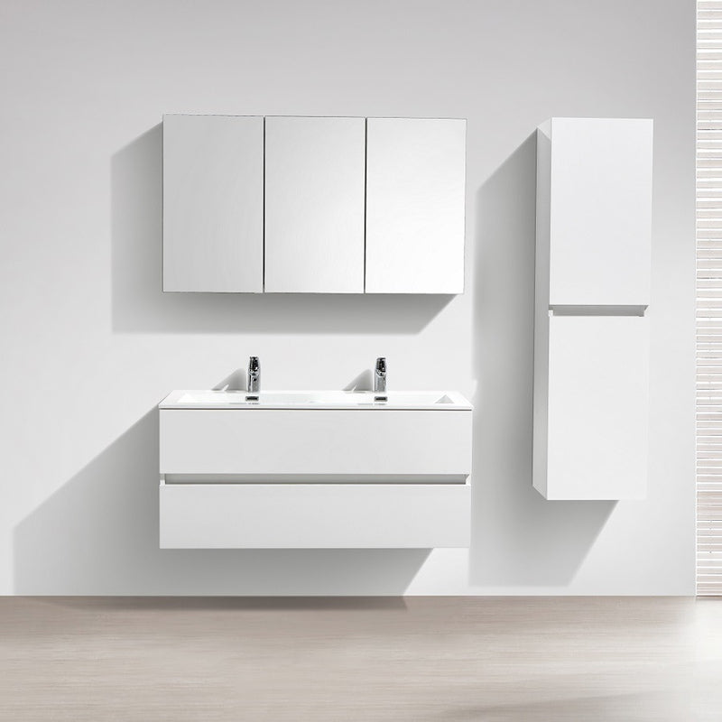 meuble salle de bain design double vasque siena largeur 120 cm blanc le monde du bain. Black Bedroom Furniture Sets. Home Design Ideas