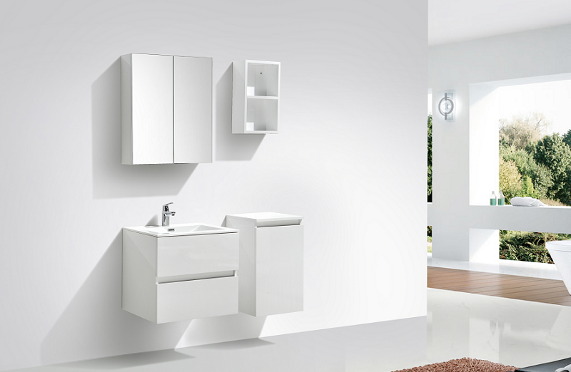 armoire de toilette bloc miroir siena largeur 60 cm blanc. Black Bedroom Furniture Sets. Home Design Ideas