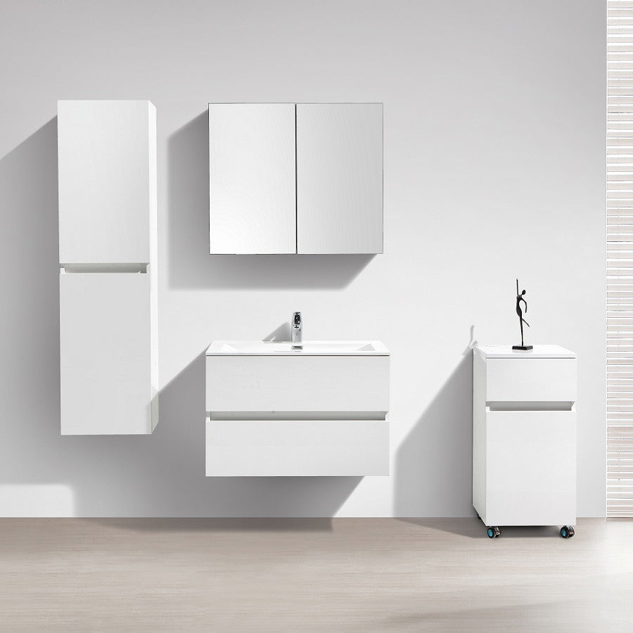 meuble salle de bain design simple vasque siena largeur 80 cm blanc l le monde du bain. Black Bedroom Furniture Sets. Home Design Ideas