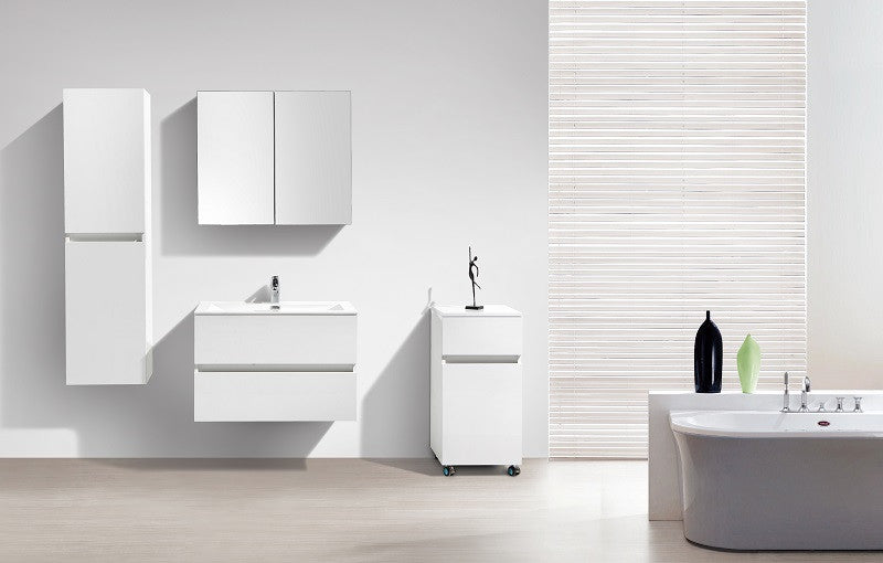 armoire de toilette bloc miroir siena largeur 80 cm blanc. Black Bedroom Furniture Sets. Home Design Ideas