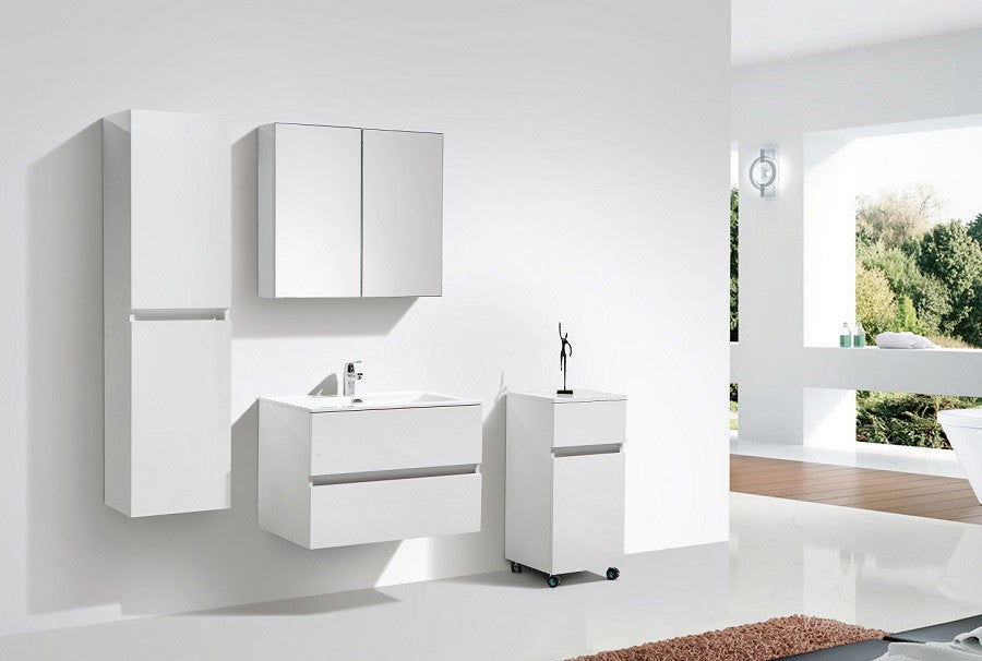 le monde du bain meuble salle de bain design simple vasque siena largeur 80 cm blanc la. Black Bedroom Furniture Sets. Home Design Ideas