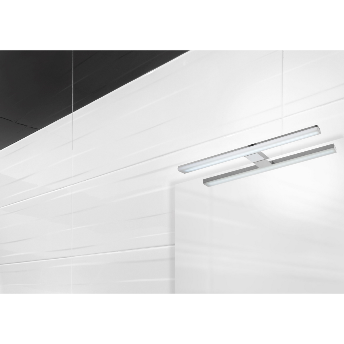 Applique led SOLAR 12W 61 cm chromé