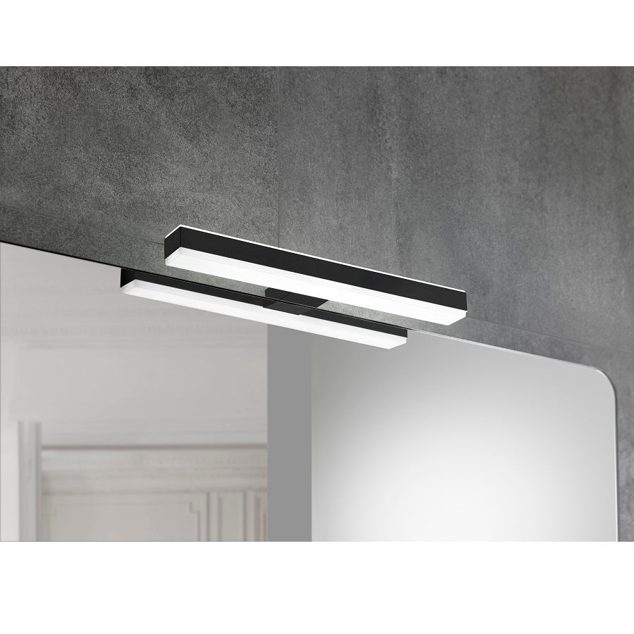 Applique led LINEA 8W 30 cm noir