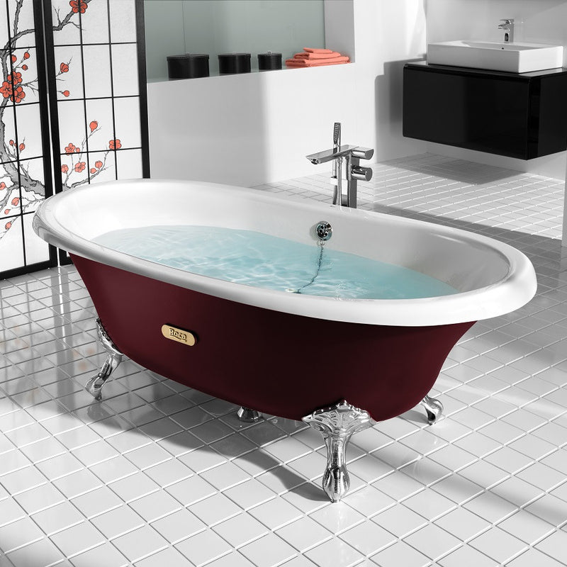 baignoire en fonte roca newcast eagle bordeaux le monde du bain. Black Bedroom Furniture Sets. Home Design Ideas