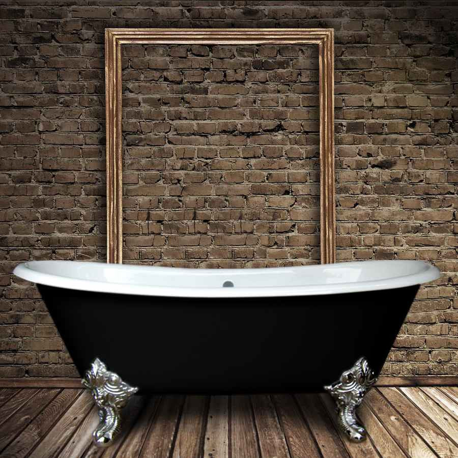 baignoire ancienne en fonte bradford noire le monde du bain. Black Bedroom Furniture Sets. Home Design Ideas