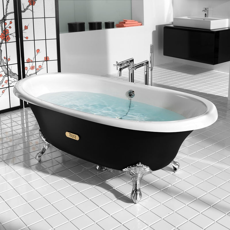 baignoire en fonte roca newcast eagle noire le monde du bain. Black Bedroom Furniture Sets. Home Design Ideas