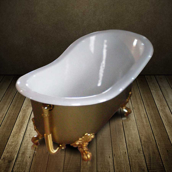 baignoire fonte dor e or ashford gold 156 cm le monde du bain. Black Bedroom Furniture Sets. Home Design Ideas
