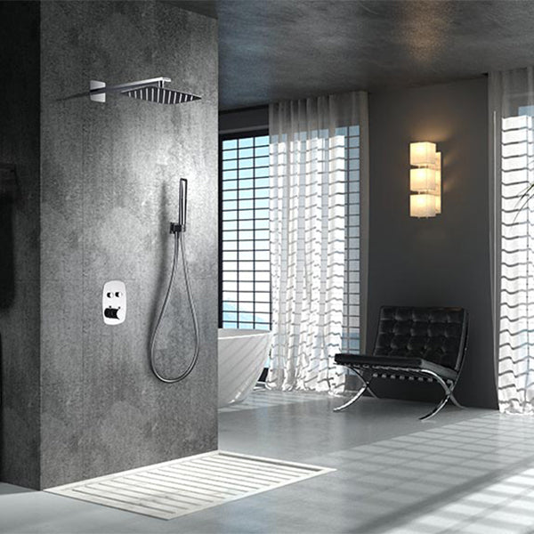Kit de douche thermostatique encastré HIDRA chromé