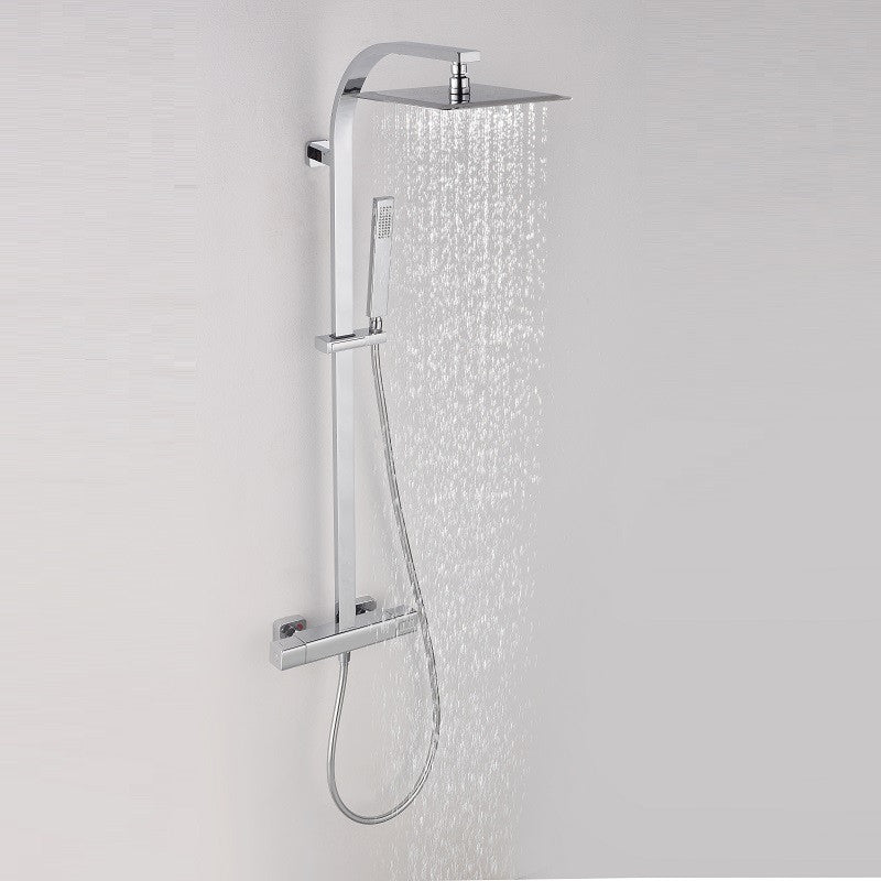Colonne de douche thermostatique PANI, avec technologies Air+® et KeepCool® - Le Monde du Bain
