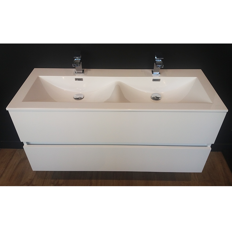 Meuble salle de bain design double vasque siena largeur for Plan vasque design