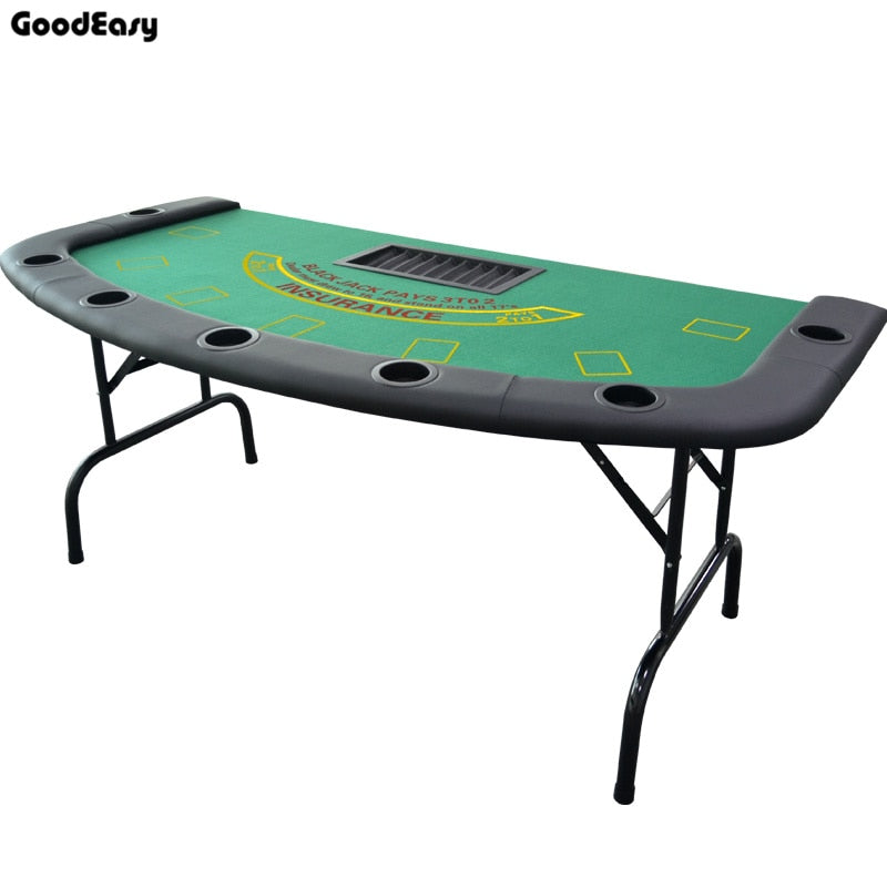 -Black Jack Table Casino Foldable Table Texas Hold'em Poker Indoor Board Game Chip Accessory Factory Price