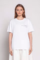 deMEntality | WOMEN'S PRINTED WHITE T-SHIRT
