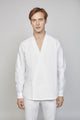 FRIDAY 04M | MEN'S WHITE KIMONO SHIRT