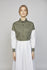 MONDAY 03F | WOMEN'S GREEN & WHITE MILITARY SHIRT