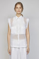 MONDAY 05F | WOMEN'S WHITE ORGANZA SHIRT