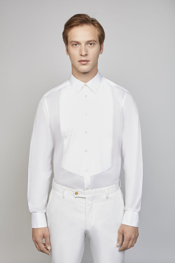 SATURDAY 02M | MEN'S WHITE PLISSE SHIRT