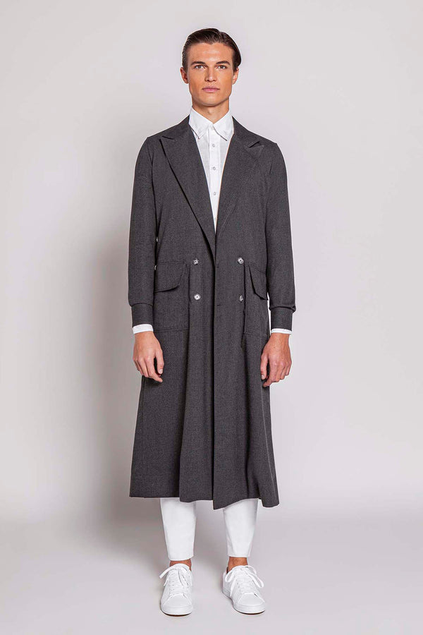 SATURDAY 04M | MEN'S GREY SHIRT COAT