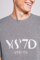 WEEKEND | MEN'S KNITTED GREY T-SHIRT