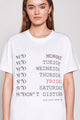 WEEK | WOMEN'S PRINTED WHITE T-SHIRT