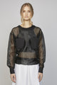 WEDNESDAY 03F | WOMEN'S BLACK ORGANZA PULLOVER SHIRT