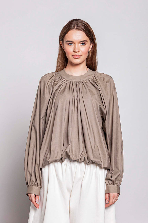 WEDNESDAY 06F | WOMEN'S KHAKI TOP PLISSE