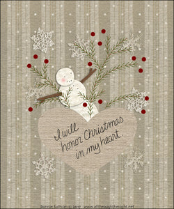 F1712 - Christmas Heart Preprinted Fabric