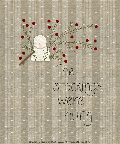 F1714 - The Stockings Were Hung... Preprinted Fabric