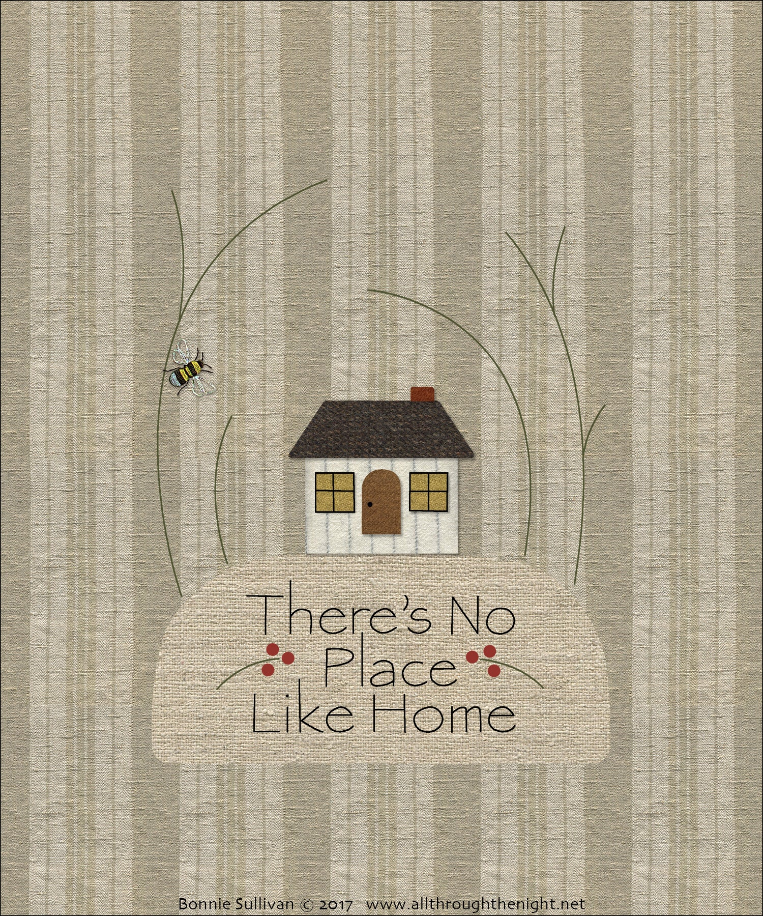 F1718 - There's No Place Like Home Preprinted Fabric