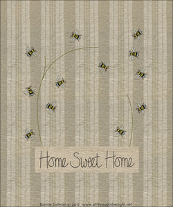 F1723 - Home Sweet Home (March) Preprinted Fabric