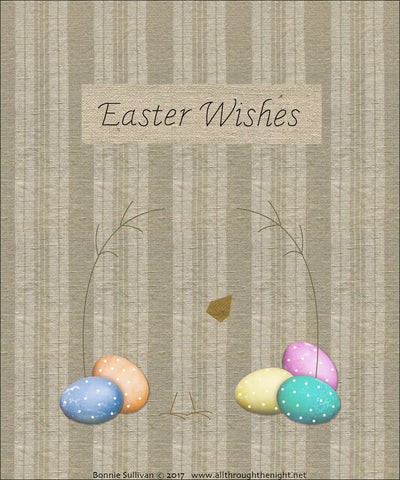 F1724 - Easter Wishes (April) Preprinted Fabric