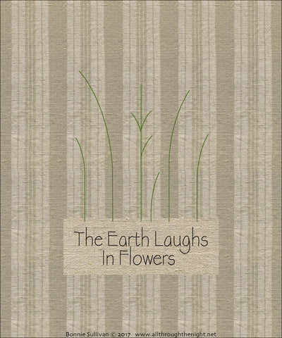 F1725 - The Earth Laughs In Flowers (May) Preprinted Fabric