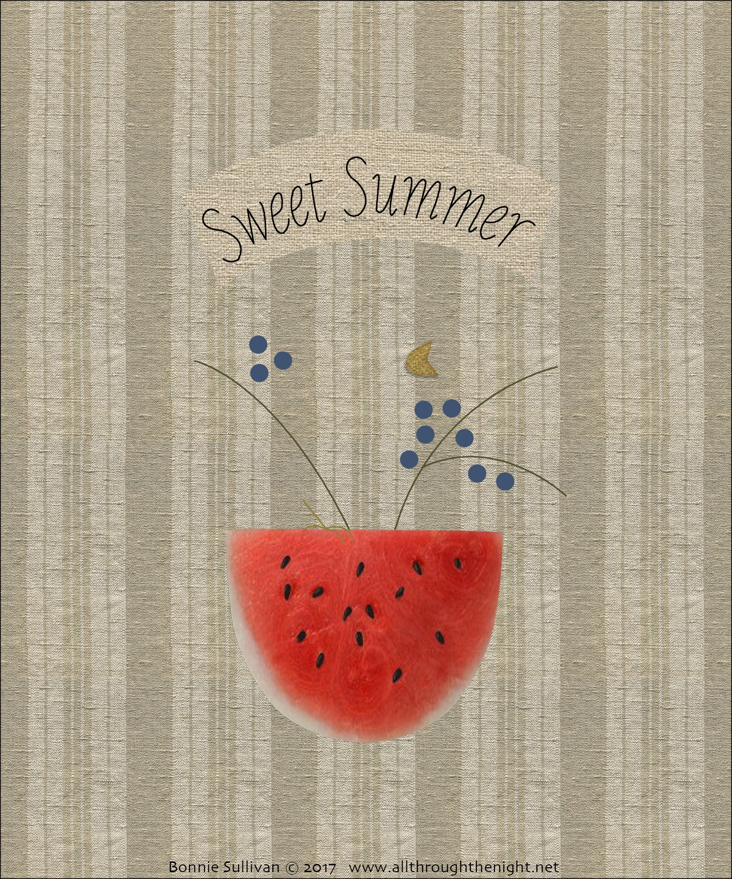 F1727 - Sweet Summer (July) Preprinted Fabric