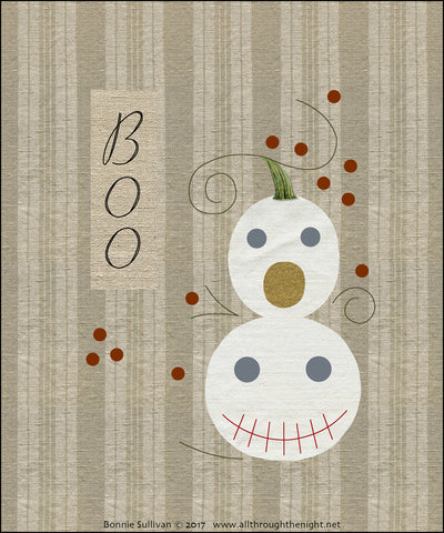 F1730 - Boo (October) Preprinted Fabric