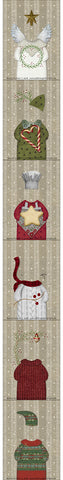 F1801 - Meowy Christmas Preprinted Fabric