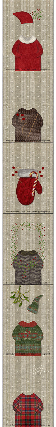 F1802 - Chrismutts Preprinted Fabric