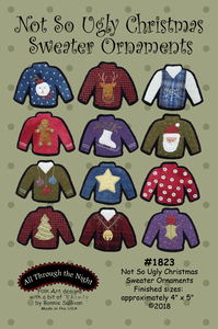 1823 - Not So Ugly Christmas Sweater Ornaments