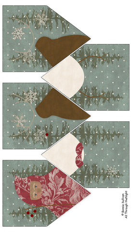 F1909 - Christmas Cheer Banner Preprinted Fabric