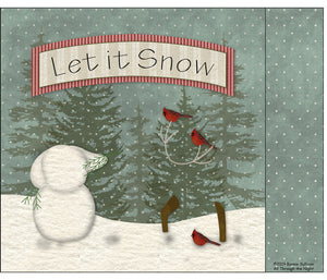 F1912 - Let It Snow! Preprinted Fabric