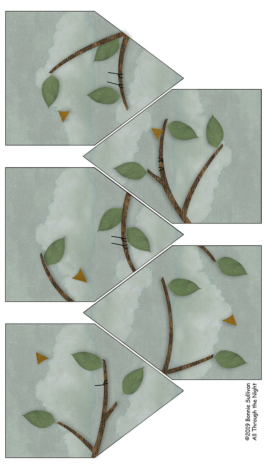 F1913 - Birdsong Banner Preprinted Fabric