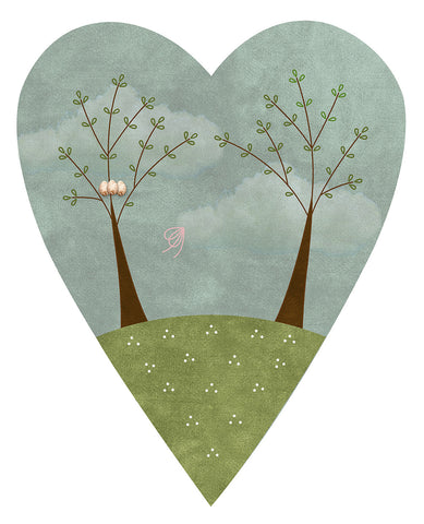 F2010 - Seasons of the Heart (Spring) Preprinted Fabric