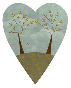 F2012 - Seasons of the Heart (Autumn) Preprinted Fabric